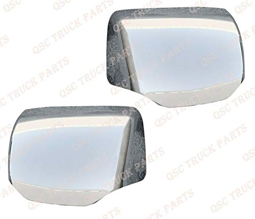QSC Chrome Hood Mirror Cover for Kenworth T680 Peterbilt 579 Left Right Side