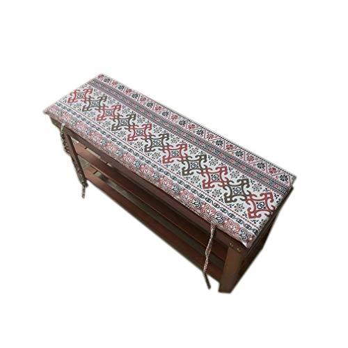 Yzzlh Cojín antideslizante para banco de jardín con lazo, columpio de 2 o 3 plazas, almohadilla de repuesto para colchón de asiento de viaje interior y exterior, 2 cm de grosor, lavable (A,87 x 28 cm)