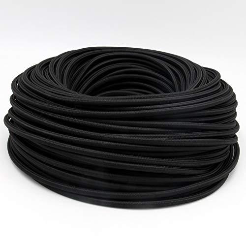 Lcuihong-Alambre de Cobre 3 Core 0.75mm 2 Tela de Tela Cable Cubierto Vintage Cable de luz 3 Alambre Cable de Alambre eléctrico Textil Flexible Cable de alimentación Suave y Fuerte