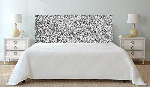 Cabecero Cama PVC Textura Encahado de Piedra Tonos Grises 150x60cm | Disponible en Varias Medidas | Cabecero Ligero, Elegante, Resistente y Económico