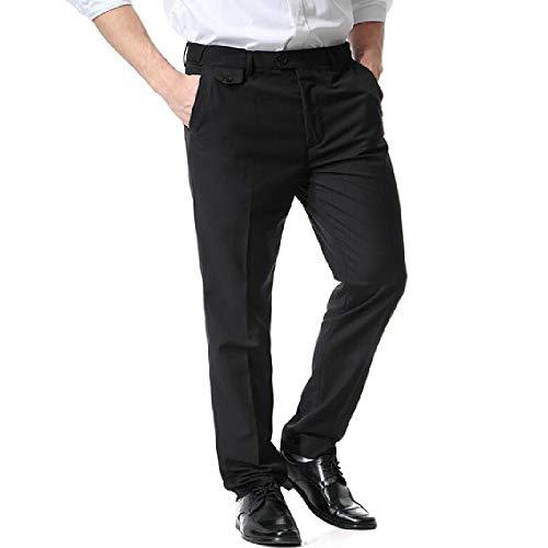 nobrand Herren Slim Fit Anzug Hose Herren Freizeit Kleid Hose Baumwolle Gerade Business Herren Formal Hose Gr. 36-41, Schwarz
