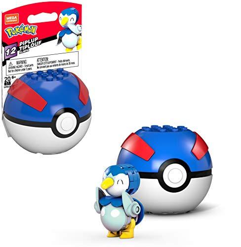 Mega Construx Pokemon Piplup Figure Building Set with Poke Ball