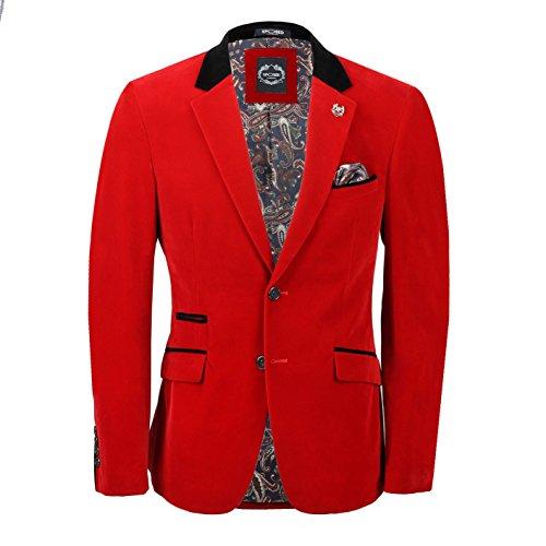 Traje de esmoquin de terciopelo rojo vintage para hombre, 3 piezas, chaqueta de esmoquin