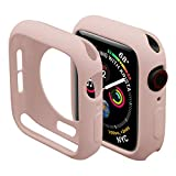 Miimall Compatible Apple Watch 42mm Case Series 2 & 3 Cover Case, Ultra-Thin Protective iwatch Bumper Cover Case for Apple Watch 42mm Pink