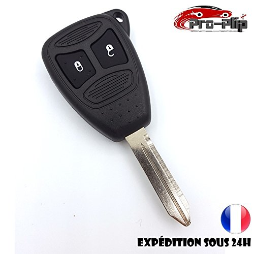 Pro-Plip vervangende sleutelbehuizing voor Dodge Caliber Dajota Durango Magnum Nitro Ram Caravan 2 grote toetsen