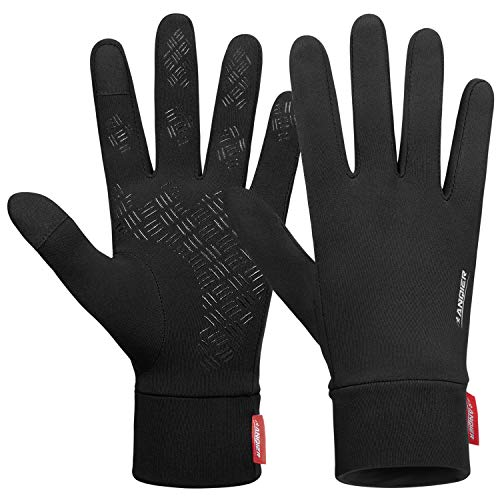 Lanyi Running Sports Gloves Compression Lightweight Windproof Anti-Slip Touchscreen Warm Liner...