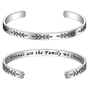 Bracelets for Women Personalized Gifts – Engraved Quote Inspirational Bracelet Birthday Christmas Funny Gifts for Best Friend, Daughter, Son, Sister, Niece, Mom, Coworkers, Stainless Steel Jewelry