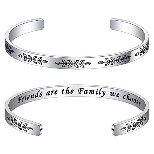 M MOOHAM Friends are Family We Choose Bracelet - Friendship Bracelet Birthday Christmas Jewelry Gift for Best Friend, Friendship Gifts for Women Friend Birthday