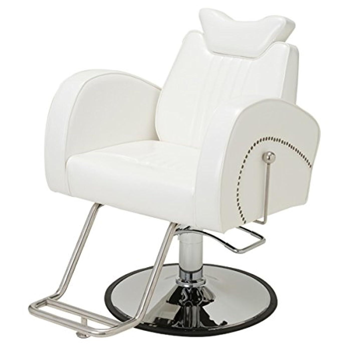 手動マクラ付き マルチチェア Cozy 802 ホワイト [ スタイリングチェア シャンプー椅子 チェア 椅子 イス セットチェア セット椅子 セットイス カットチェア カット椅子 カットイス 美容室椅子 美容室 美容師 ]