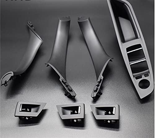 piaopiao 7 unids Conducción a la Derecha RHD Ajuste para BMW 5 Series F10 F11 520 525 Coche de Vino Interior Manija Interior Panel Interno Pull Thole Funda Babrost (Color : Black)