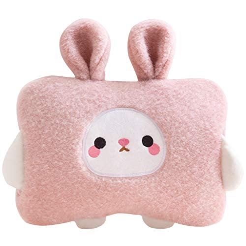 Electric Rechargeable Hot Water Bottle with Fleece Hand Warmer Portable Safe Explosion Hot Water Bag Gifts for Girls
