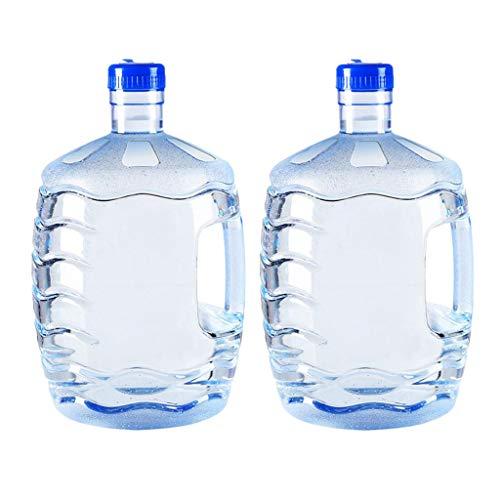 Amagogo 2 Piezas 7.5L Botella de Agua de Plástico Reutilizable Jarra Recipiente para Beber con Asa