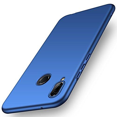 ORNARTO P20 Lite Hülle für Huawei P20 Lite, Ultra Dünn Schlank Stoßfest, Anti-Scratch FeinMatt Einfach Handyhülle Abdeckung Stoßstange Hardcase für Huawei P20 Lite(2018) 5.84' Blau