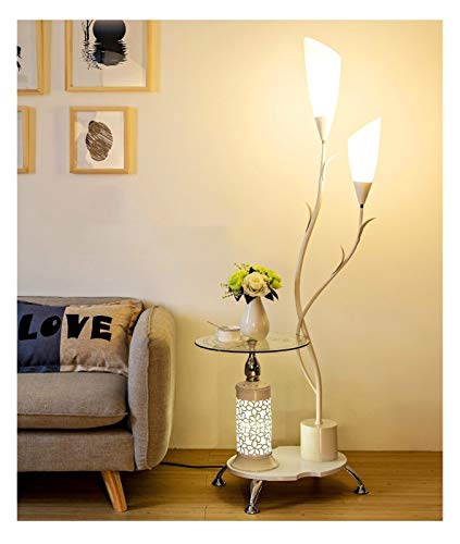 YSVSPRF Floor Lamp Nordic Desktop Floor Lamp Modern Bedroom Floor Light Living Room Standing Lamp Study LED Stand Light Industrial Decor Luminaire (Lampshade Color : A White)