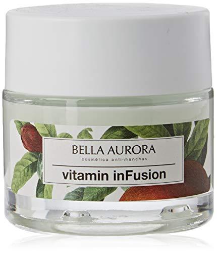 Bella Aurora Vitamin inFusion Tratamiento Reparador Noche Anti-Arrugas anti-Edad para Mujer Crema Facial Redensifica + Regenera + Detoxifica, 50 ml