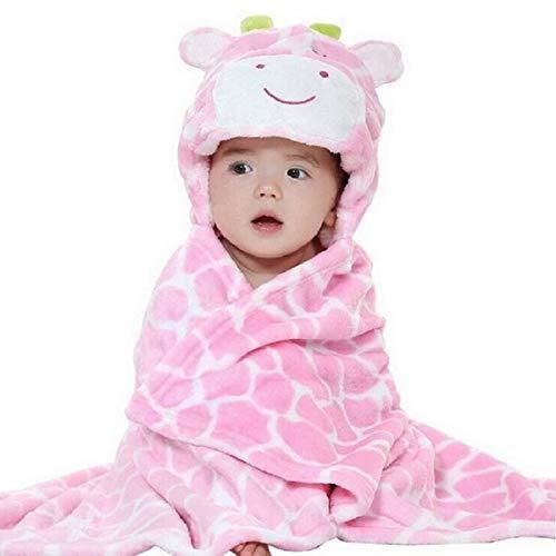 Toalla de bebé con capucha Swaddle Wrap Manta suave Coral Fleece Animal Cara Bebé con capucha Baño Playa Toalla de natación Albornoz para Bebé Niño