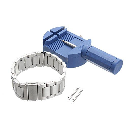 Bluelover Reemplazo 22Mm De Acero Inoxidable Reloj Pulsera Banda para Samsung Gear S3 Clásico/Frontera - Plata