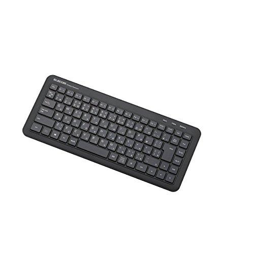 エレコム ワイヤレスキーボード 静音タイプ メンブレン式 コンパクト ブラック TK-FDM078TBK