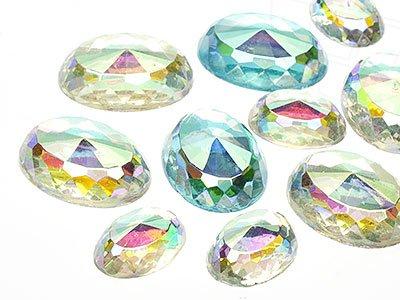 OPTIMA Pierres de gemme de Ovale 13x25mm (Romance Mix), 30 Pièces