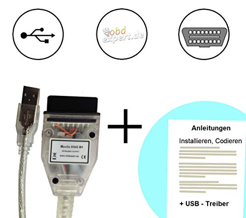 MaxDia Diag2+ - D-CAN - Diagnose-Interface - Für E-Modelle ab Baujahr 2007