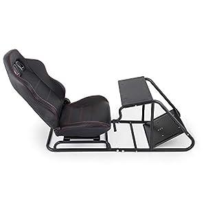 Husuper Asiento para Simulación de Conducción Racing Simulator Simulador de Conduccion PS4 Completo Simulador Cabina…