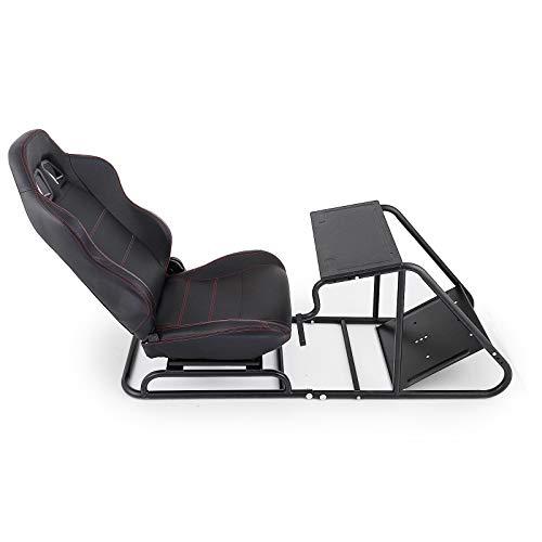 VEVOR Rennsimulator Cockpit Driving Gaming Seat Schalthebelhalterung PS3 / 4 Xbox Logitech G29 G920 PC Faltbarer Racing Chair Rennradständer Driving Gaming Chair