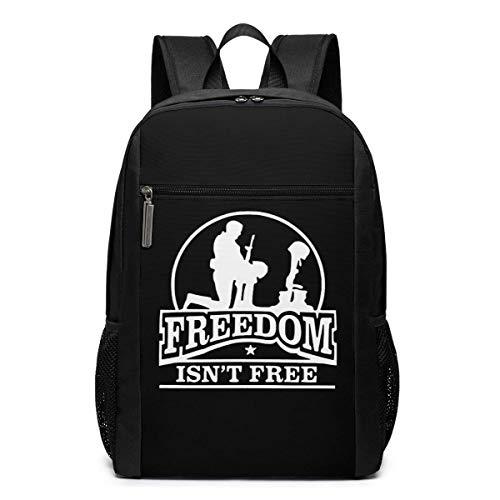ZYWL Freiheit ist Nicht kostenlos Utra-Premium 17-Zoll-Reise-Laptop-Rucksack, Büchertasche, Business-Tasche