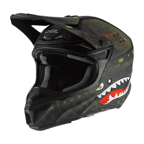 O'Neal 5 Series Unisex-Adult Off-Road Helmet (Black/Green, X-Large)