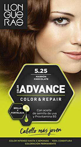 Llongueras Color Advance Tinte, Tono: 5,25 Marron Chocolate - 200 g