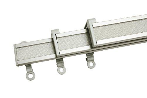 Gardinia Clip-On Paneelwagen 3er Set für Flächenvorhangschienen Perfectline, 60 cm, Aluminium, Grau