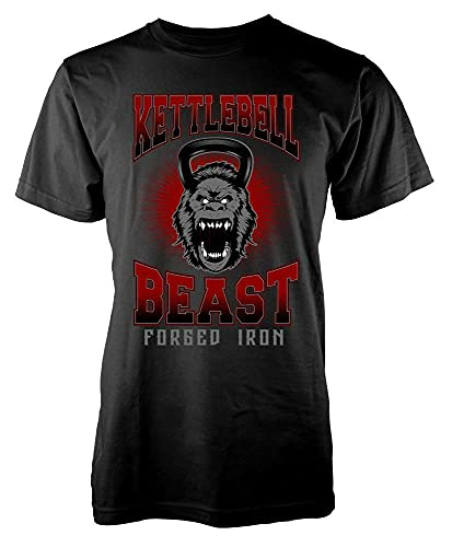 YOUQING BNWT Kettlebell Beast Forged Iron Gorilla Fury Sport Adult Men's Graphic T Shirt Black s