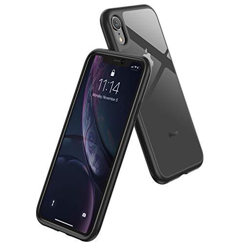 Syncwire Silikon Hülle kompatibel mit iPhone XR, UltraRock Schutzhülle mit fortschrittlichen Fall- Schutz und Luftkissen Safeguard Technologie Handyhülle für iPhone XR, Schwarzer Rand