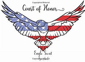 Court of Honor Eagle Scout Guest Book: Ceremony Sign in Book/ Event Guestbook - Eagle & American Flag