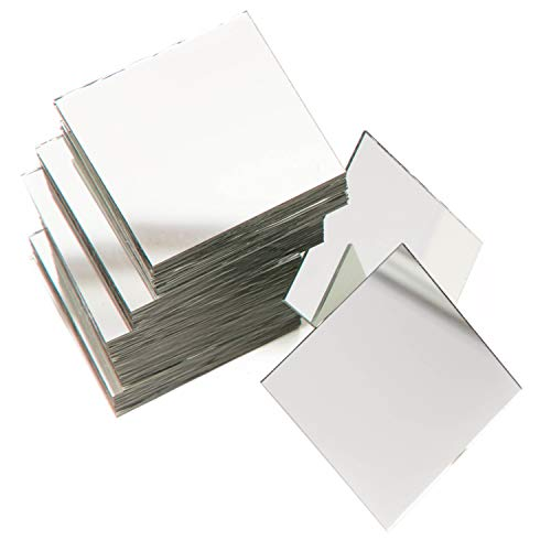 Square Mirror Tiles for DIY Crafts and Home Decorations (2-in, -