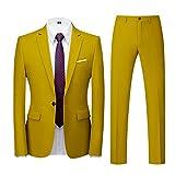 Suit Hombre Traje de 2 Piezas con Chaqueta Chaqueta Chaleco pantalón Hombres Traje de Fiesta de Boda de Negocios Style Traje Ceñido para Hombre