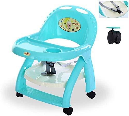LIANYANG Sillas altas para bebés para la alimentación Silla de comedor con ruedas Portátiles extraíbles para niños y sillas Mesa plegable para bebés Niños multifuncionales para comer Taburete Niños pa