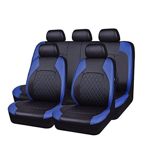 Fundas universales de piel sintética para asientos de coche, 11 unidades, compatibles con airbag, transpirables
