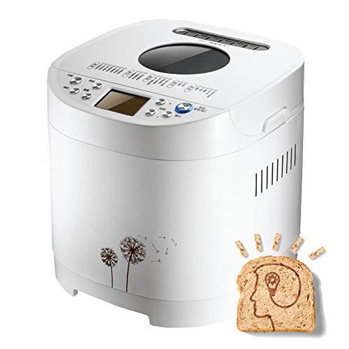 WMOFC Máquina Automática De Pan,Panificadora De Corteza Crujiente De 650W para Panes Artesanales,Sin Gluten, Masas Y Compotas,21 Programas Automáticos, Temporizador Digital 13H,Color Blanco