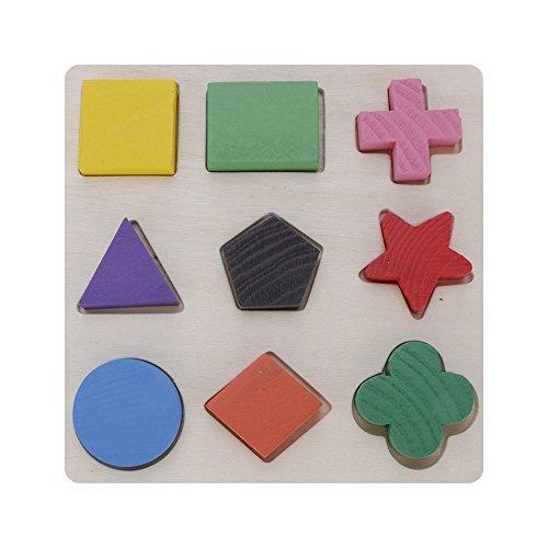GGG Enfants Conseil en bois éducation Géométrie Matching Plate Puzzle Jouets Casse-tête cadeau de noël Jouet - Conseil cognitif
