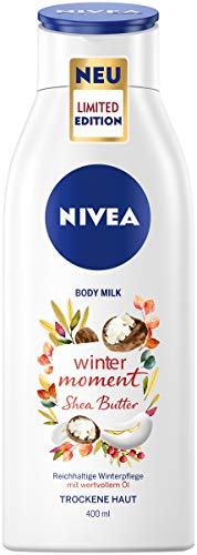NIVEA Winter Moment Body Milk (400 ml), reichhaltige Body Lotion für trockene Haut, tiefenwirksame Winterpflege spendet 48h Feuchtigkeit