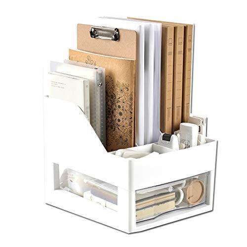 NYKK Estantería para Libros Estantería Creativa de Escritorio Estantería de Almacenamiento de Escritorio Cajón de múltiples Capas (Gris) Shelf Bookcase