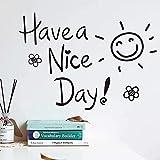 Pegatinas de pared que tengas un buen día vinilo decoración de bricolaje apuesta inglesa flor decoración de oficina 60Cm 50Cm