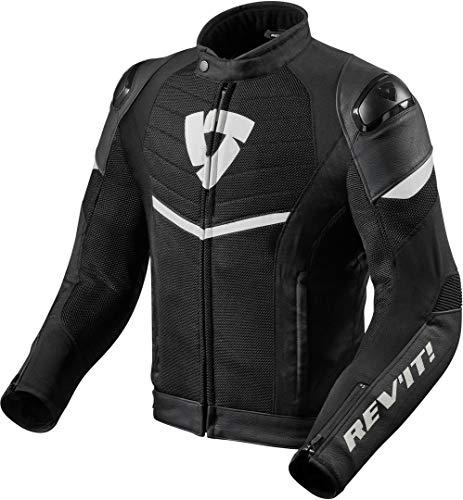 REV'IT! Motorradjacke mit Protektoren Motorrad Jacke Mantis Textiljacke schwarz/weiß XL, Herren, Sportler, Ganzjährig, Polyester