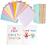 55 Pk Mini Notebooks Journals Blank Books For Kids Students Assorted Vibrant Colors 24 Pages (4.25 x 5.5 Inches)