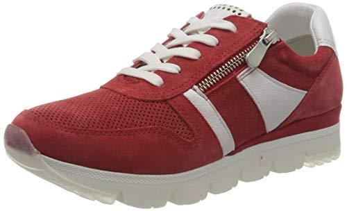 MARCO TOZZI 2-2-23754-26 Damen Leder Sneaker, Zapatillas de Gimnasio Mujer, Red Comb, 40 EU