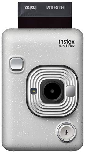 "Fujifilm Instax Mini LiPlay Stone White Fotocamera Ibrida Istantanea e Digitale, Registra 10"" di Audio sulla Foto con la Funzione ""Sound"", Remote Shooting e Bluetooth, Foto Formato 62 x 46 mm"