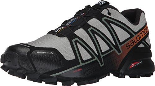 SALOMON,Scarpe da Trekking Speedcross 4 CS, da Uomo, di Colore Blu, Grigio (Mehrfarbig (Shadow/Black/Hawaiian S)), 48 EU
