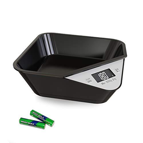 ARTER Bilancia Cucina Elettronica 5kg, Smart Bilancia Digitale Alta Precisione con Ciotola Integrata, Bilancia Alimenti con Funzione Tare e Auto Zero,
