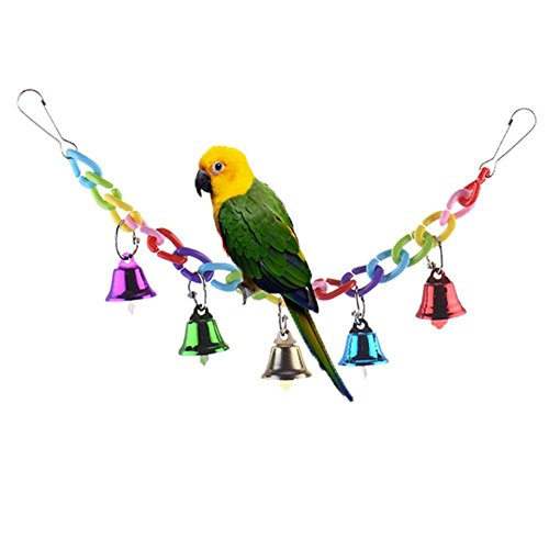 Bunte Klingel-Glocken-Schaukel für Papageien und Wellensittiche