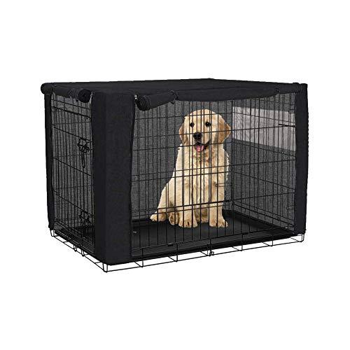 chengsan Funda para cajón de perro para cajas de alambre, resistente al viento, poliéster resistente al viento para mascotas (solo cubierta, 24 pulgadas)